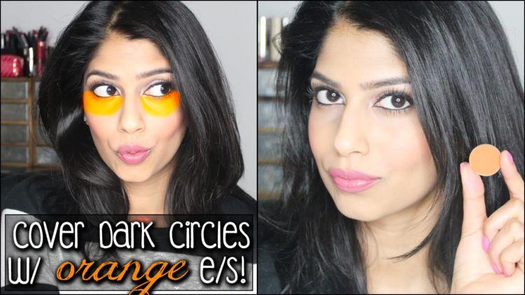 oranye untuk lingkar bawah mata pada kulit gelap