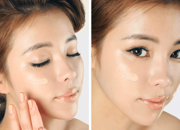Gunakan foundation yang membuat kulitmu cerah satu atau dua shade. Tapi jangan terlalu putih, ya!