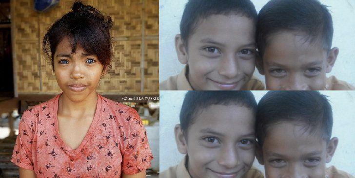 mata biru itu ada, di pelosok Indonesia. nggak mutlak punya orang Eropa
