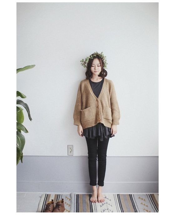 sweater longgar dan celana panjang