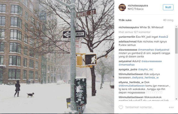 Postingan Nicholas Saputra di akun instagram miliknya.