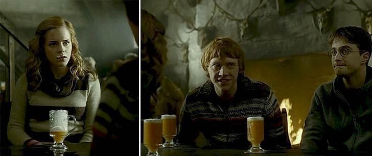 Harry dan teman-teman sedang minum BeerButter