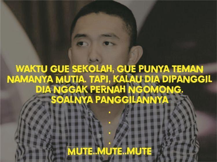 Panggilannya mute! Mute! Mute!