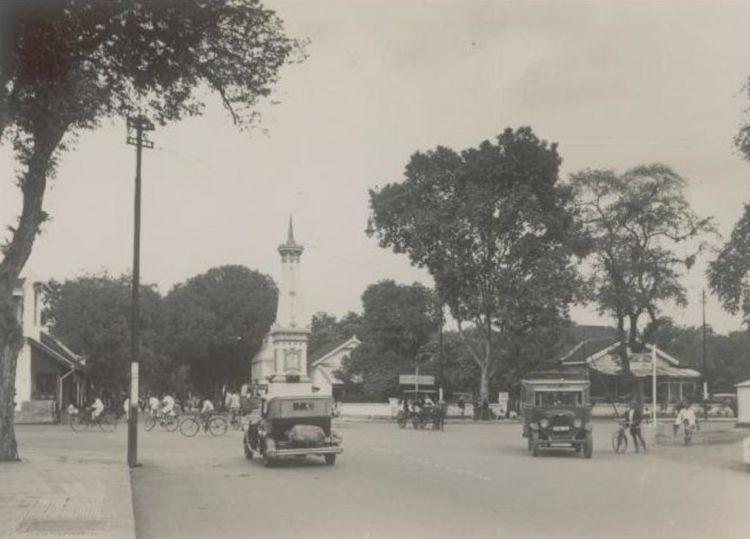Perempatan Tugu Jogja tahun 1935