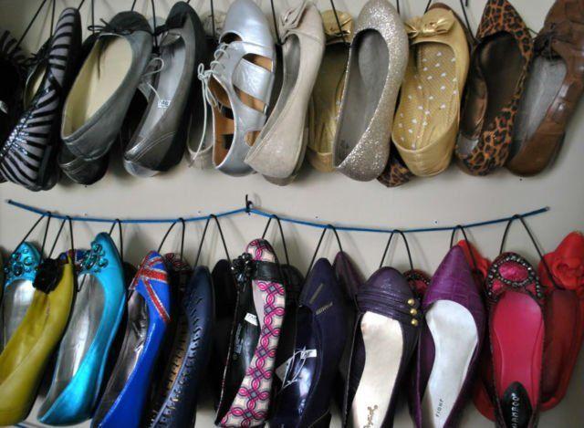 cara membuat rak sepatu gantung sendiri