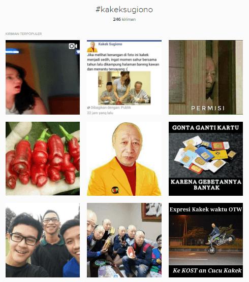 Ratusan netizen pakai tagar si Kakek...
