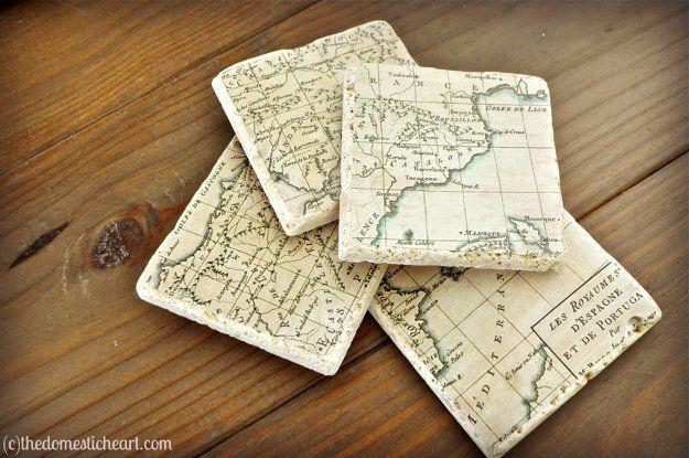 diy buku catatan dari peta