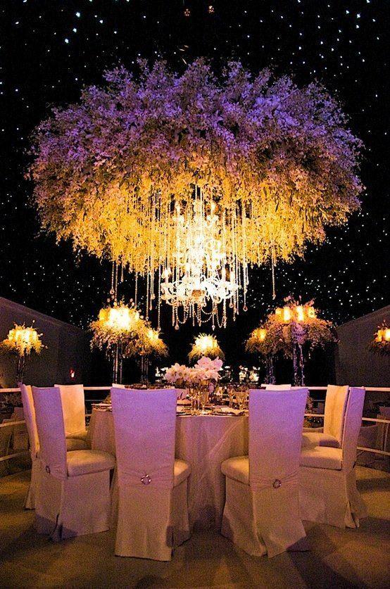 mengelilingi chandelier