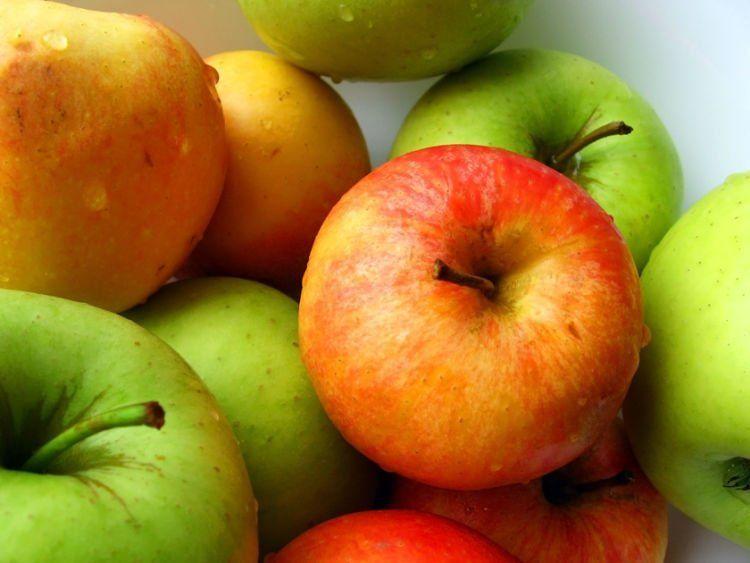 pisahkan apel dari bahan makanan lain ya..