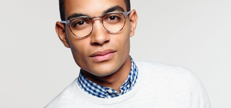 kacamata dengan sudut melengkung