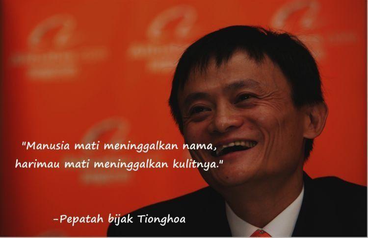 Seperti Jack Ma yang sukses dan tenar seantero dunia.