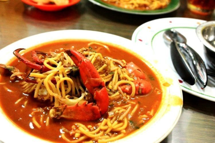 Mie Kepiting Aceh.