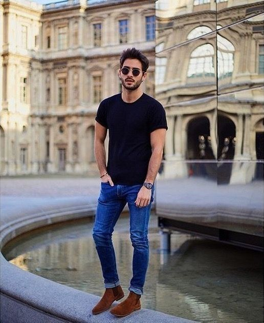 dengan jeans biru