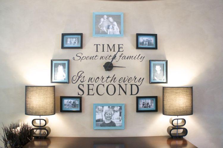 Jam dinding foto keluarga
