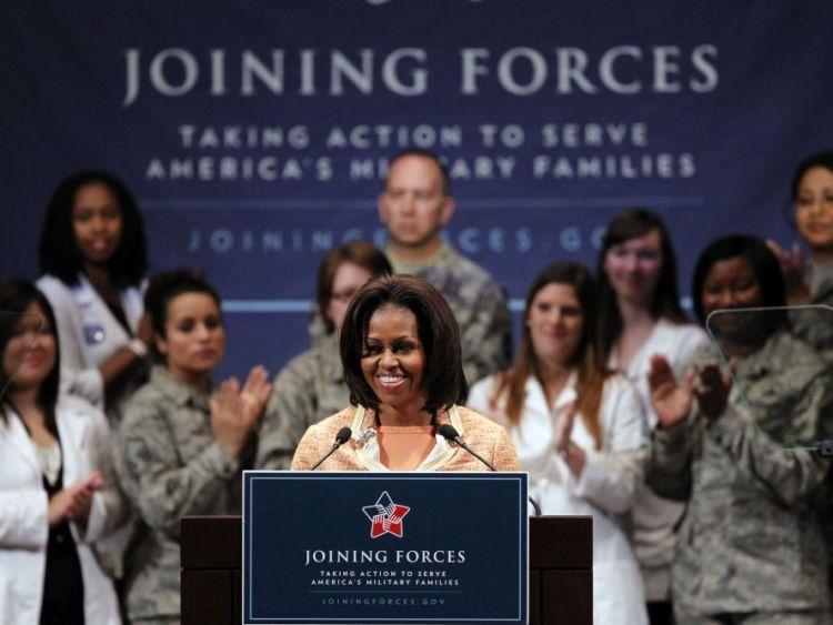 Bentuk perhatian Michelle pada veteran Perang.