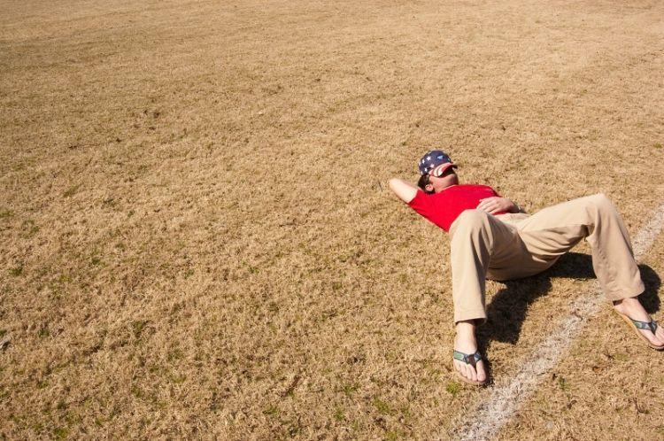 Waktu olahraga biar badan bugar, justru tidur