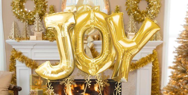 golden baloons