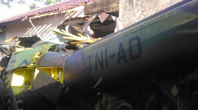 Pesawat yang jatuh menimpa rumah warga di Yogyakarta beberapa waktu lalu.