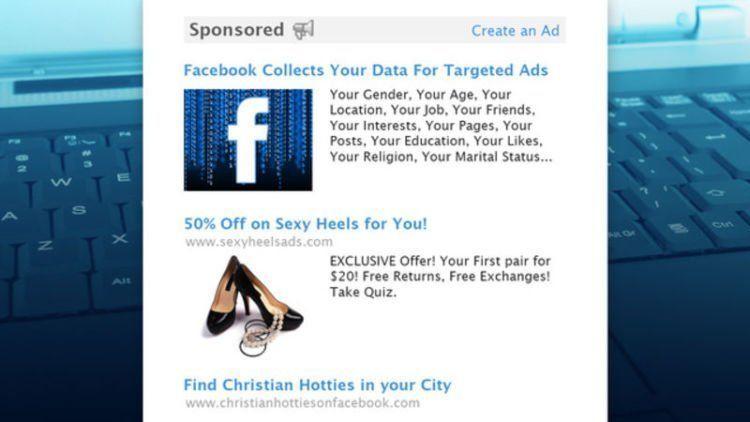 Iklan yang muncul di akunmu berdasarkan data yang didapat Facebook yang mereka jual pada pengiklan.