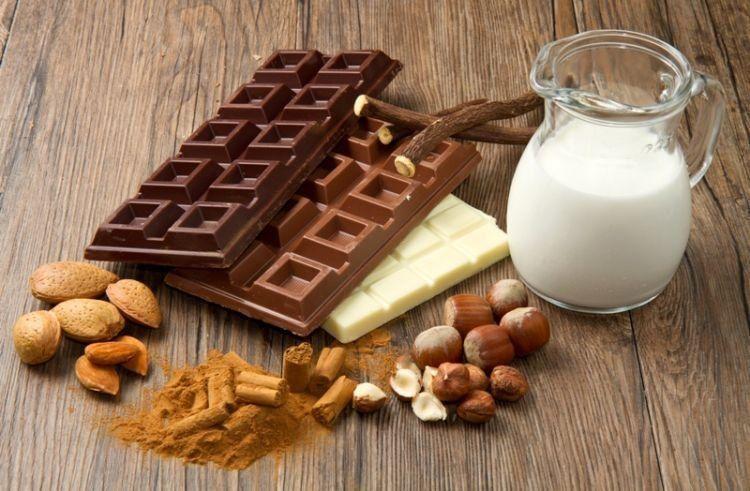 susu dan cokelat