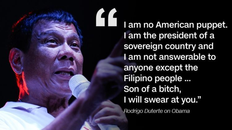 Respon Duterte terhadap UN dan US