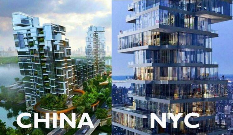 Aslinya di New York, tiruannya di Chengdu Cina