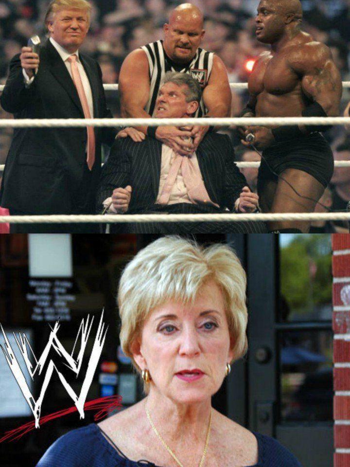 Trump pernah mencukur rambut suami Linda live di WWE