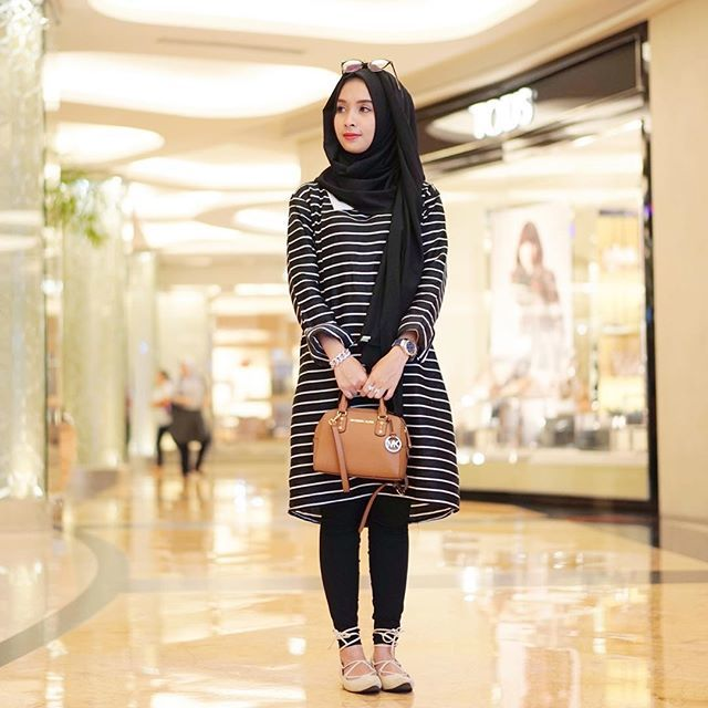 blouse garis-garis