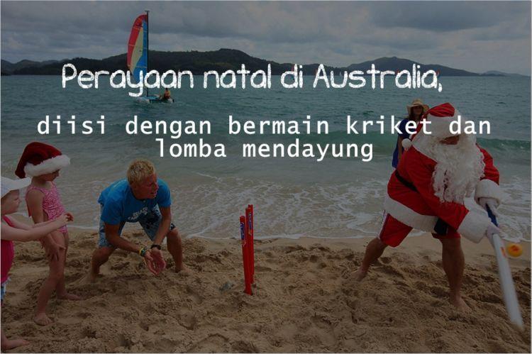 Natal di Australia terjadi pada musim panas.
