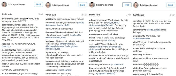 Komentar netizen beragam