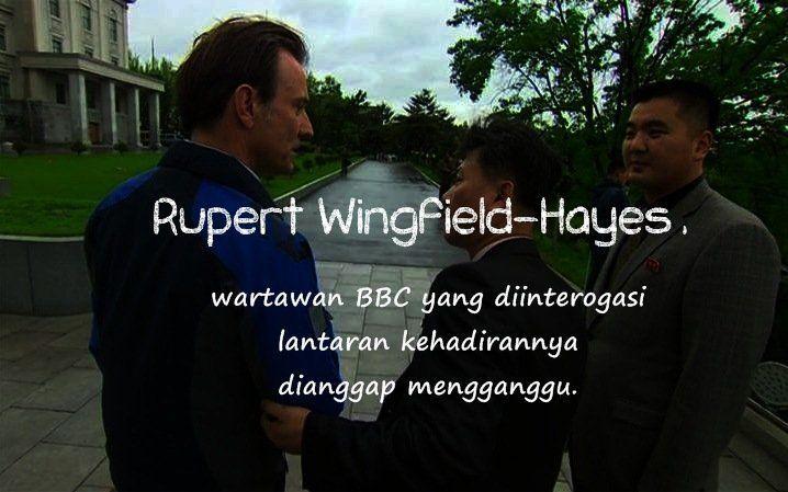 Jurnalis BBC yang diinterogasi.