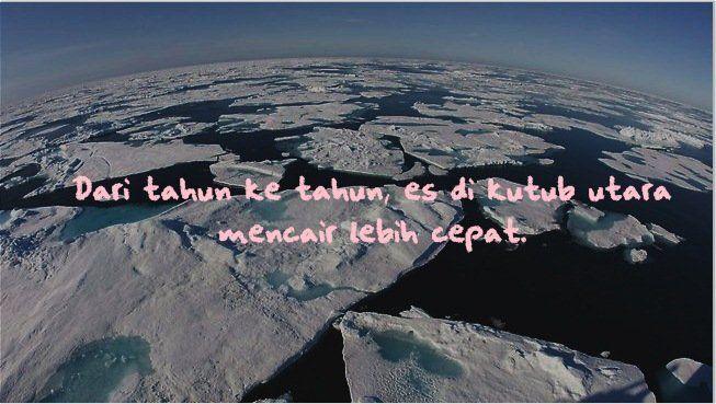 Es di kutub utara makin mencair.