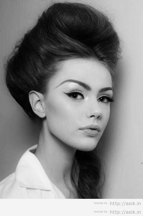 model rambut beehive