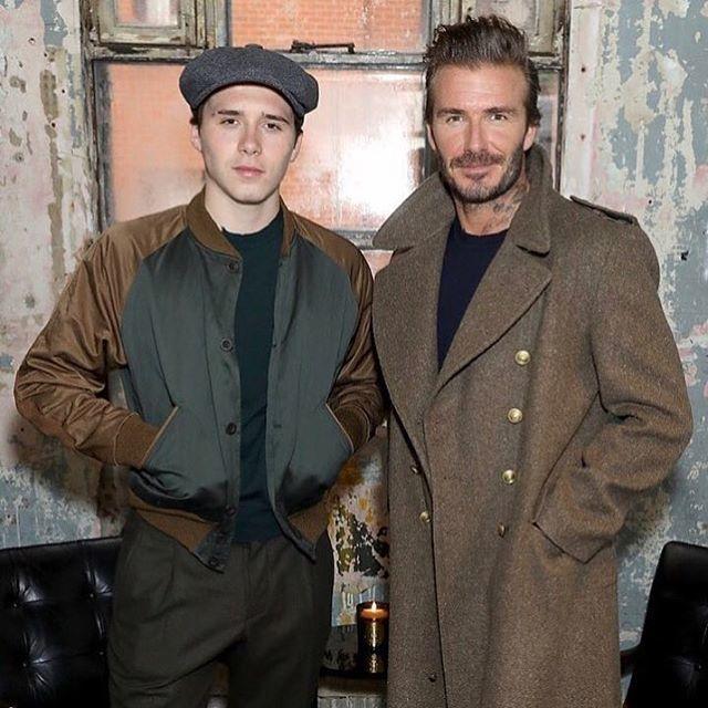 David Beckham danBrooklyn Beckham