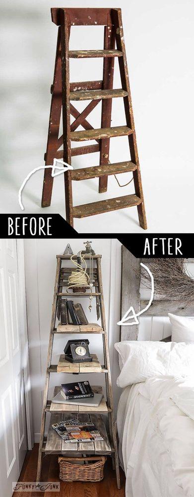 pakai tangga kayu