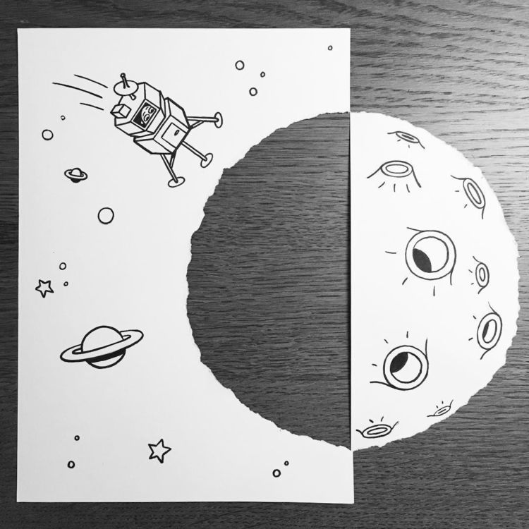 luar angkasanya lucu :3
