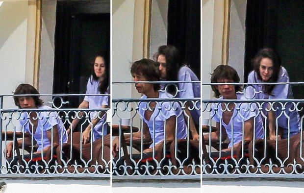 Mick Jagger aja di balkon nih pacarannya