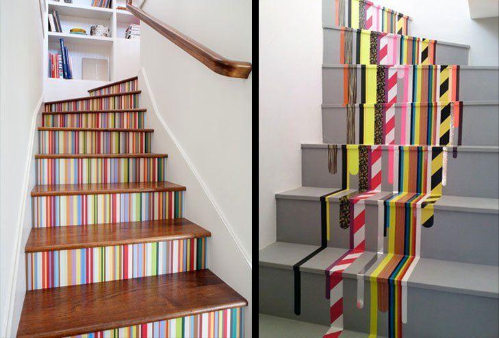 tangga berwarna