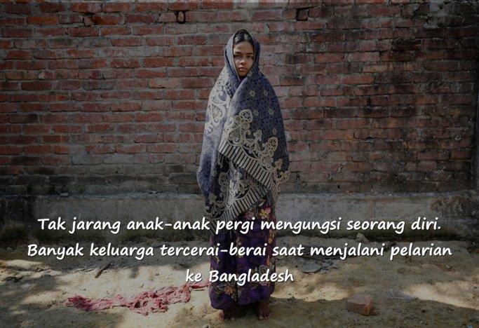 Warga Rohingya telah berlarian menyeberangi samudra derita
