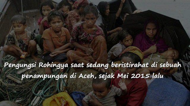 ada sekitar 500 migran yang terdampar di pantai Aceh setelah terapung-apung di laut selama sebulan
