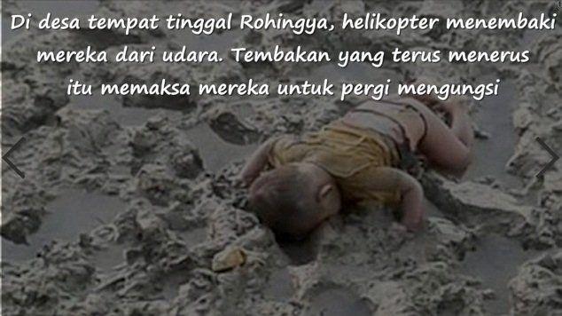 pengungsi balita yang terdampar di tepi sungai