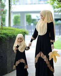 Baju Couple Muslim Ibu & Anak Model Terbaru Cantik & Modern