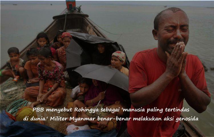 Beragam penderitaan tak henti dialami etnis Rohingya. Mereka menjadi korban kekerasan rasial
