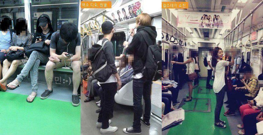 Artis-artis Korea biasa banget itu naik kendaraan umum
