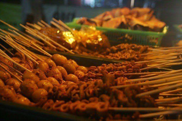 Menu makan malam di Jogja