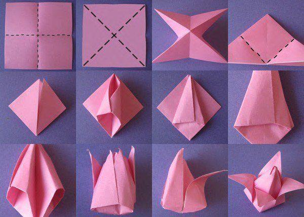 8 Ide Menghias Kamar Pakai Kertas Origami Tinggal Potong