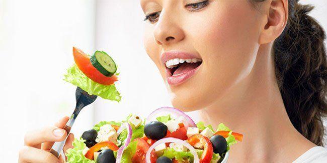 makan makanan sehat