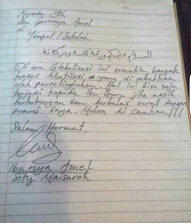 Makin Dramatis Setelah Gurunya Membalas Surat Dari Ayah