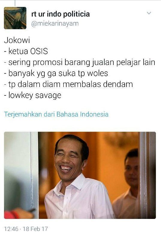 Kalau Jokowi di sekolahan