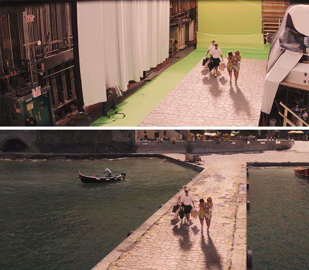 Laut dan kapalnya efek CGI juga